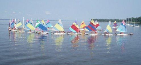 sunfish. sailing to Miss Miller's
