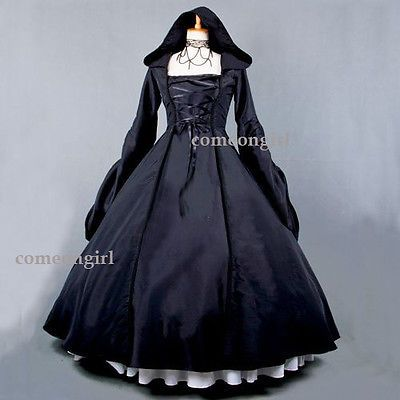 Women-Gothic-Victorian-Southern-Belle-Gowns-Halloween-Cosplay-Costume-Dress dc2e16cc38e2