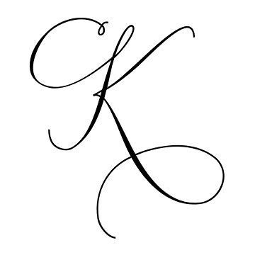 Latin Capital Letter K Stylistic Set 4 Schriftarten  Vorlagen
