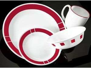Red 16-pc. Livingware Urban Red Dinnerware Set by Corelle at Cooking ...