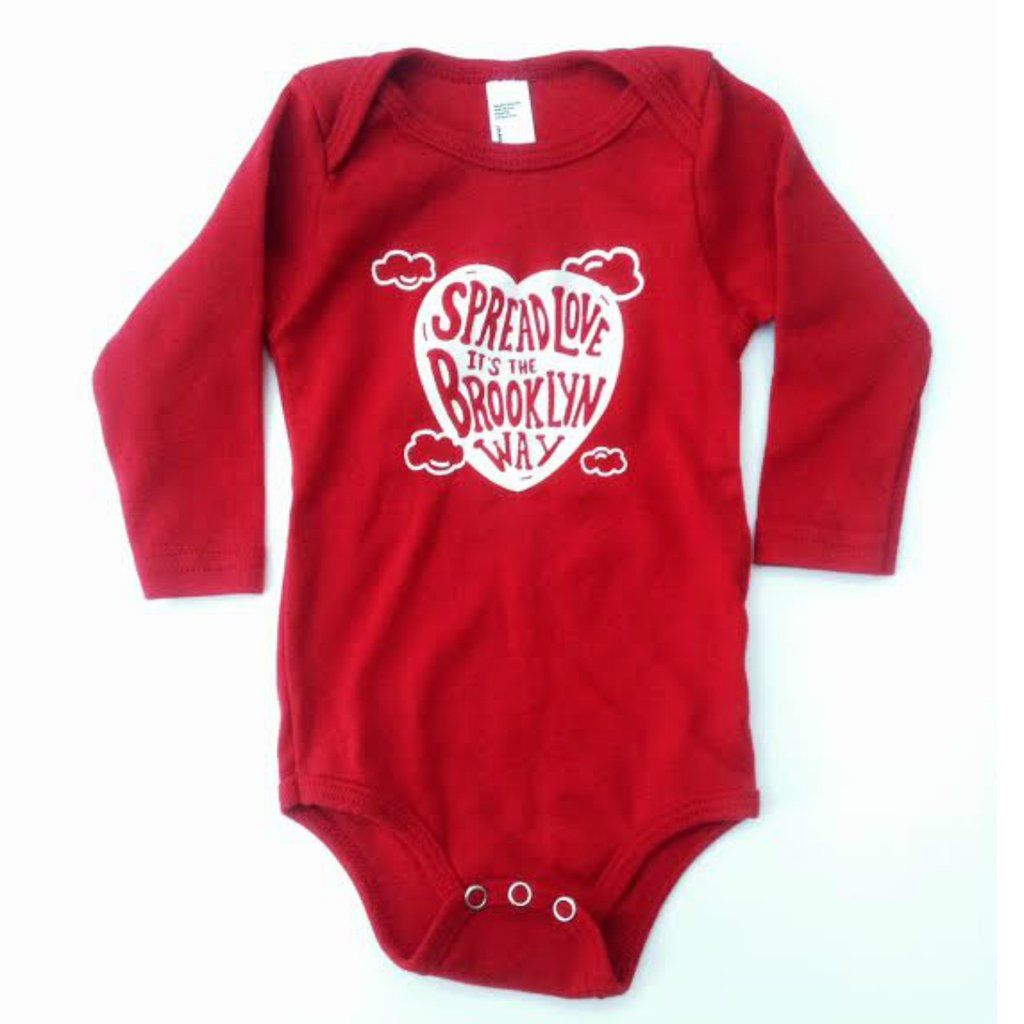Spread Love Onesie Red Long Sleeve Baby Photography Pinterest