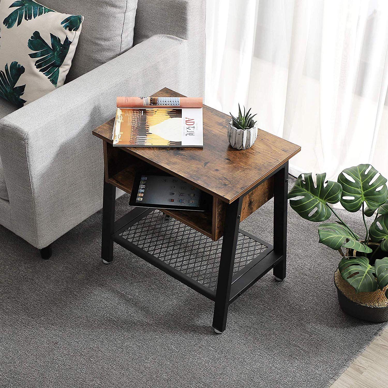 Amazon Com Vasagle Vintage Nightstand 2 Tier Side Table With