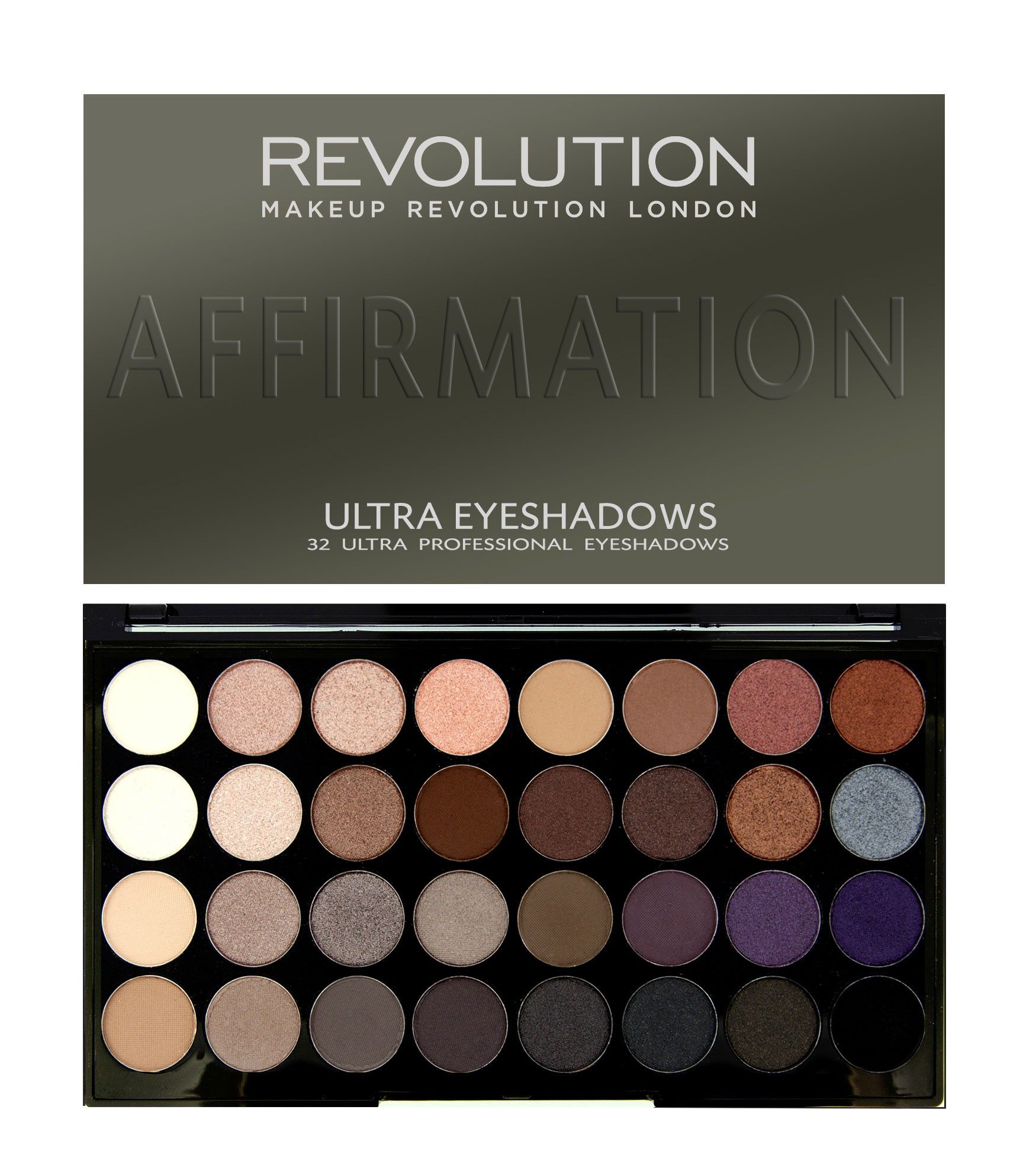 Revolution Ultra 32 Shade Eyeshadow Palette AFFIRMATION
