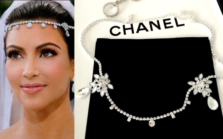 wedding bridal tiara, kim kardashian inspired headpiece