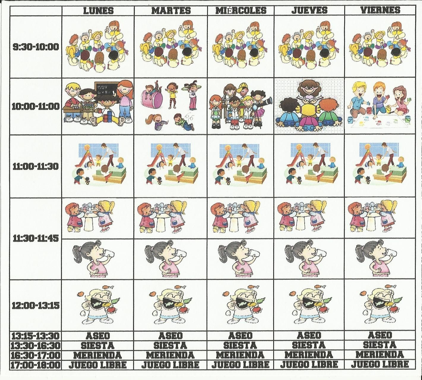 Horario Infantil Mundo Mágico 2 3 Años Actividades Montessori Educacion Infantil Escuela