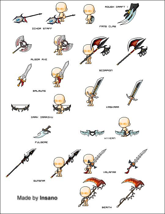 New Weapons O: - Pixel Art - MapleTip Forums- MapleStory