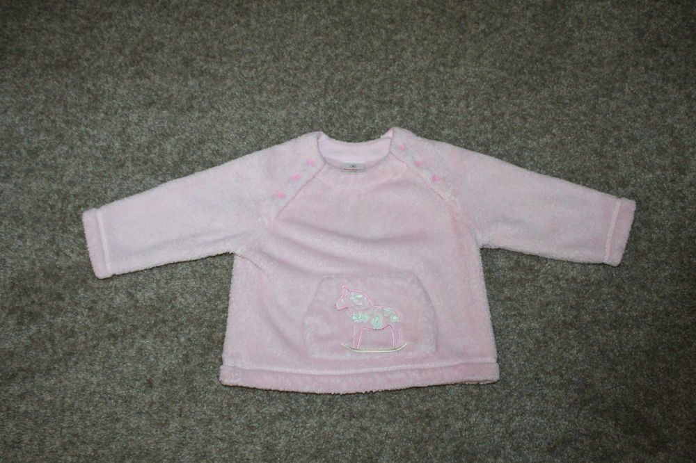 Hanna Andersson Toddler Girl Pink Fleece Pullover Sweatshirt 80 12-24 Months #HannaAndersson #Everyday