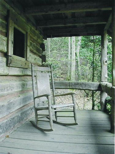 North Georgia Rocker With Images Rustic Cabin Country Porch Porch Rocker