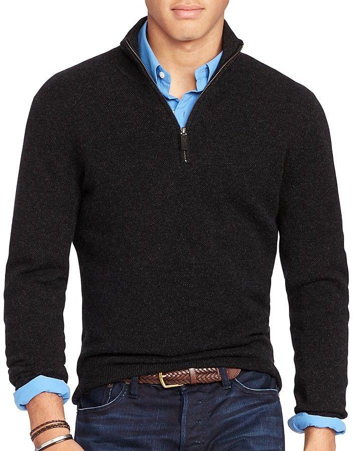 930536932 Polo Ralph Lauren Cashmere Half Zip Sweater