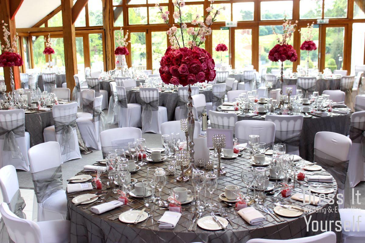 Wedding room decoration ideas  Brocket Golf Club  Oak Room  Wedding  Ideas for decorating