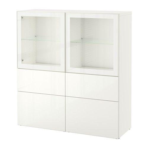 Best 197 Storage Combination W Glass Doors White Selsviken