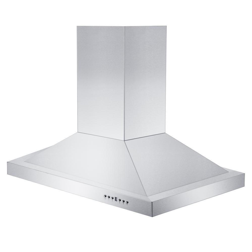 Zline Kitchen And Bath 36 In Remote Blower Island Mount Range Hood In Stainless Steel Brushed 430 Stainless Steel Kitchen Bath Stainless Steel Island Range Hood