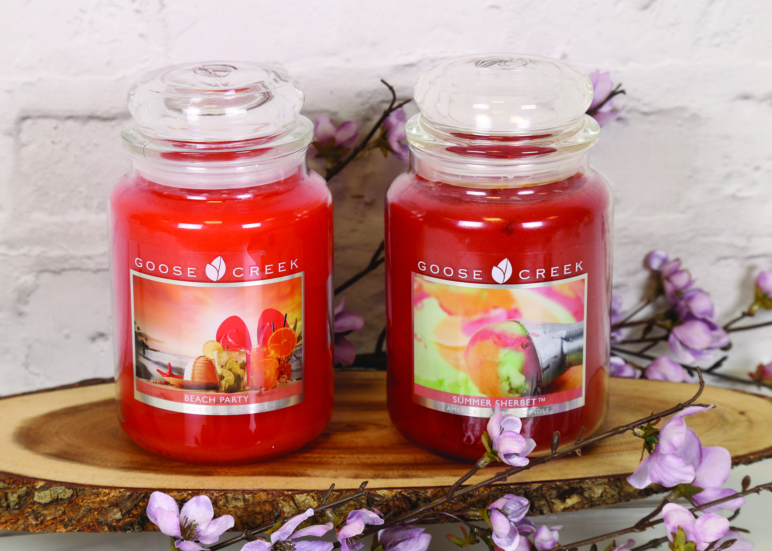 Beach Party and Summer Sherbet 24oz Candle Jars. Goose ...
