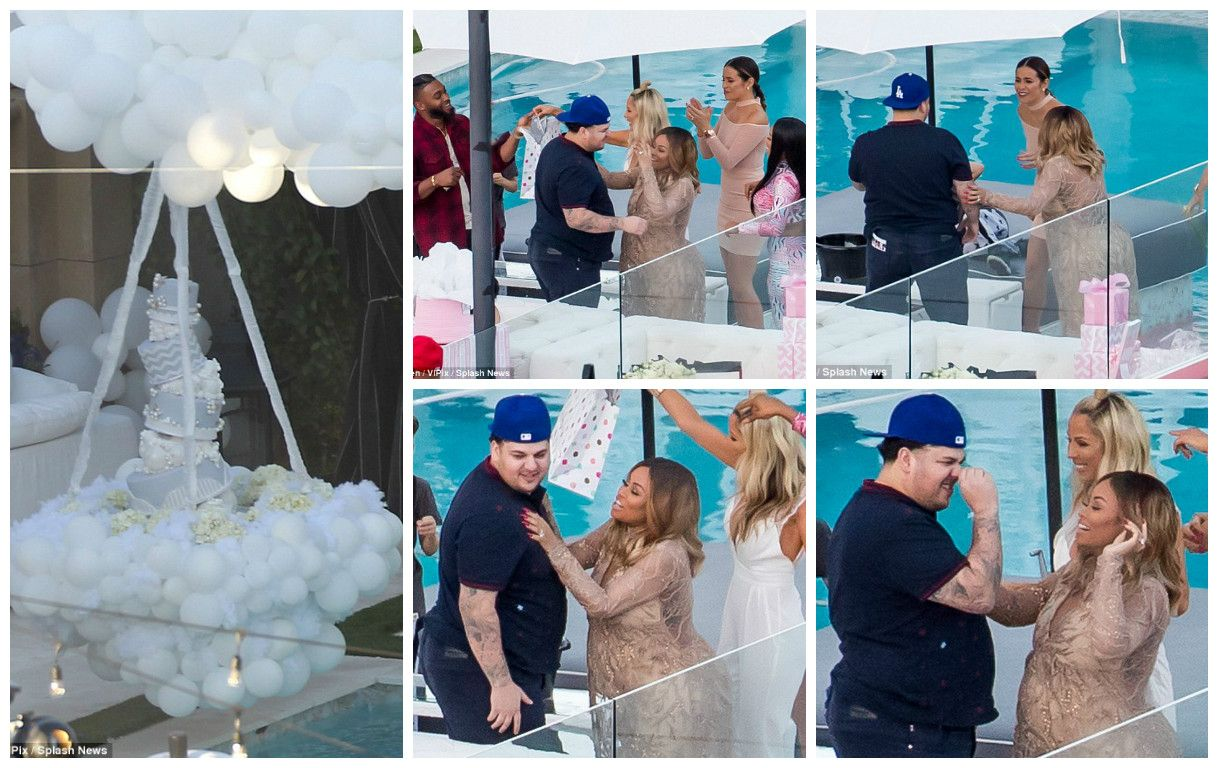 First Pics Of Rob Kardashian U0026 Blac Chynau0027s Baby Shower