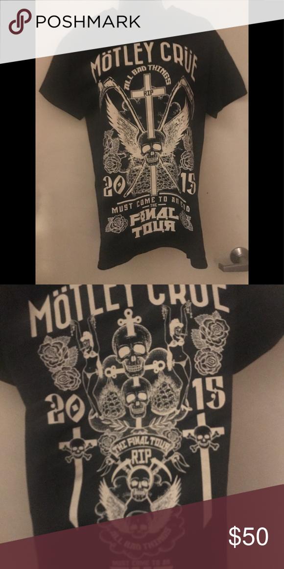 Motley Crue Final Concert Tour 2015 T Shirt Concert Tshirts Motley Crue Motley Crue Shirt