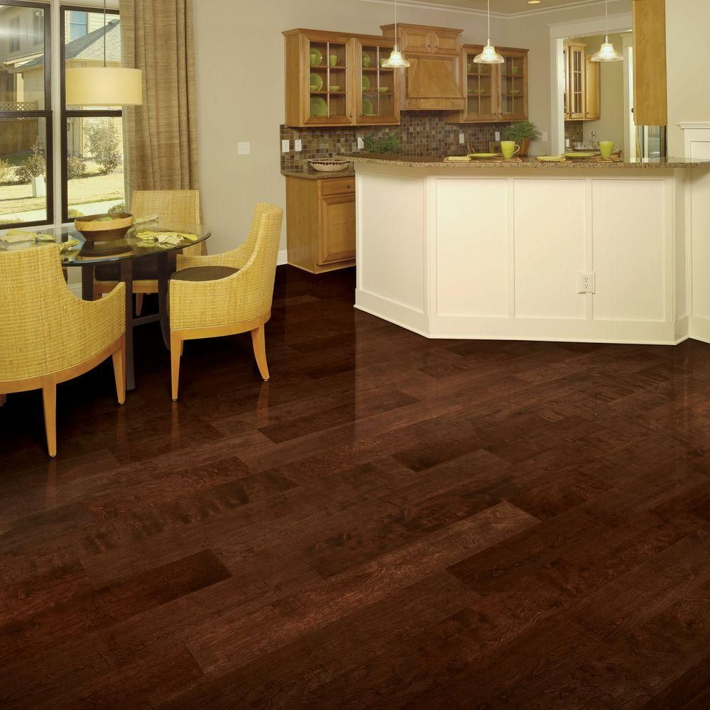 Hand scraped wood tile - Home Legend Hand Scraped Birch Heritage 3 8 In T X 5 3 4 In W X Varying Length Click Lock Hardwood Flooring 22 68 Sq Ft Case