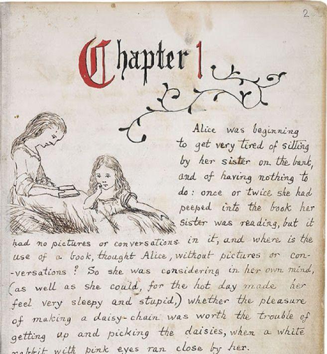 Alice in Wonderland Original Manuscript [gallery]