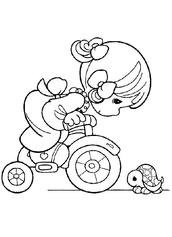 Girl On Bike Precious Moments Coloring Pages Coloring Books