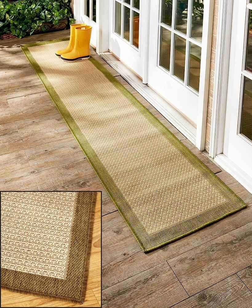 Extra Long Runner Brown 72 Indoor Outdoor Carpet Rug Floor Runner