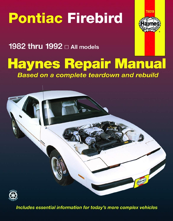 Pontiac Firebird 82 92 Haynes Repair Manual By John Haynes Haynes Manuals N America Inc Pontiac Firebird Pontiac Firebird For Sale Repair Manuals