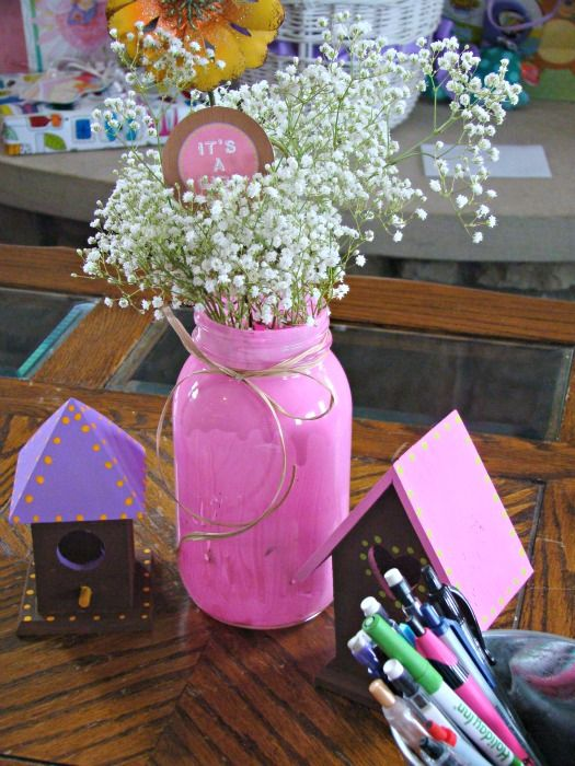 Woodland Baby Shower 13  Love The Babys Breath In Mason Jars, Maybe Clear  With