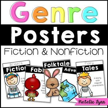 Reading Genre Posters Classroom Decor Organization Pinterest