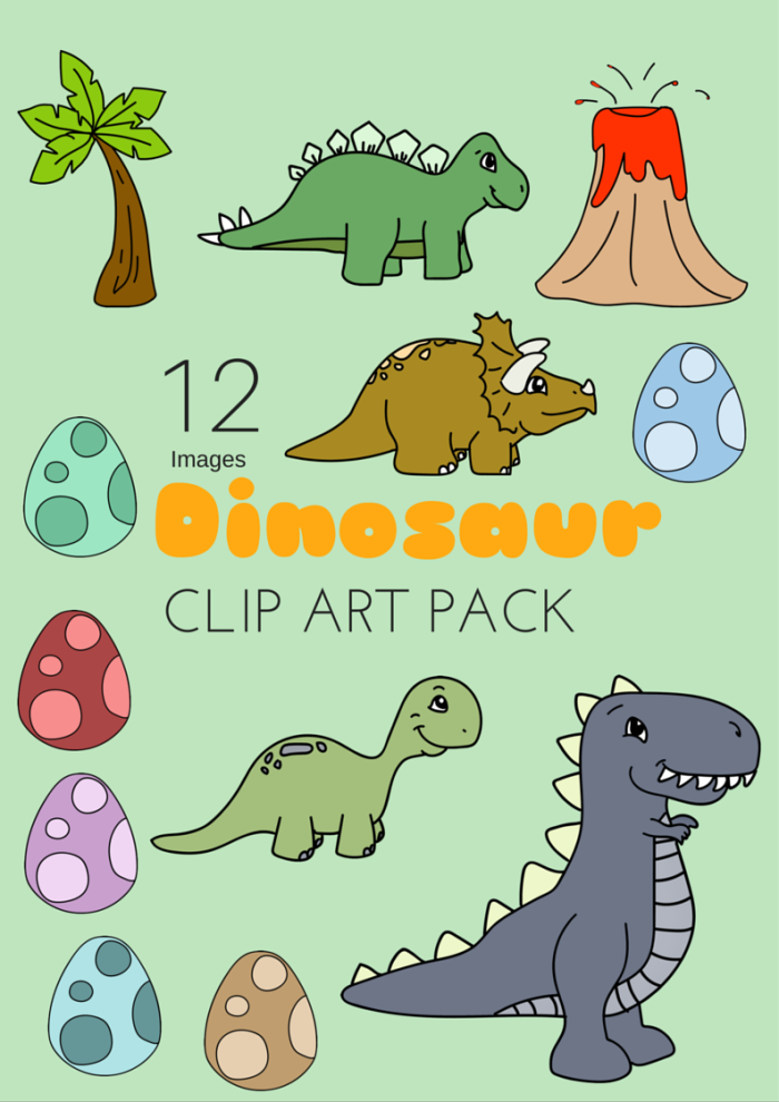 Downloadable Free Dinosaur Clipart Pack 12 Images Miniature Masterminds Dinosaur Clip Art Clip Art Freebies Dinosaur Images