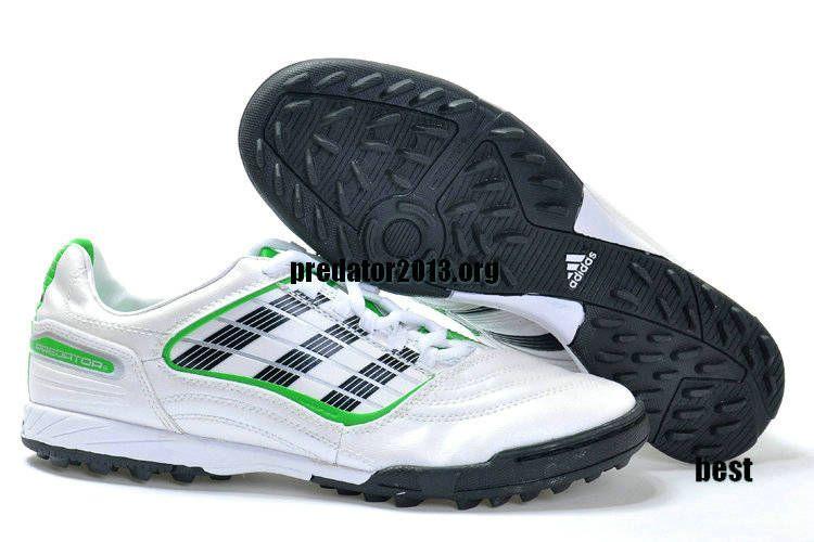 Adidas Predator XI TF 2012 Beckham Soccer Cleats White Black Green Beckham  Soccer Shoes b349a1cafd