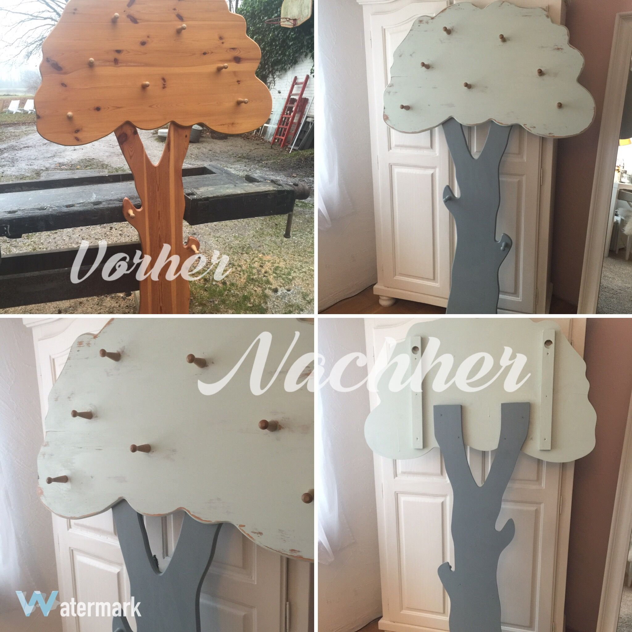 Vorher Nachher · Kids Furniture, Wooden Tree Shabby Chic