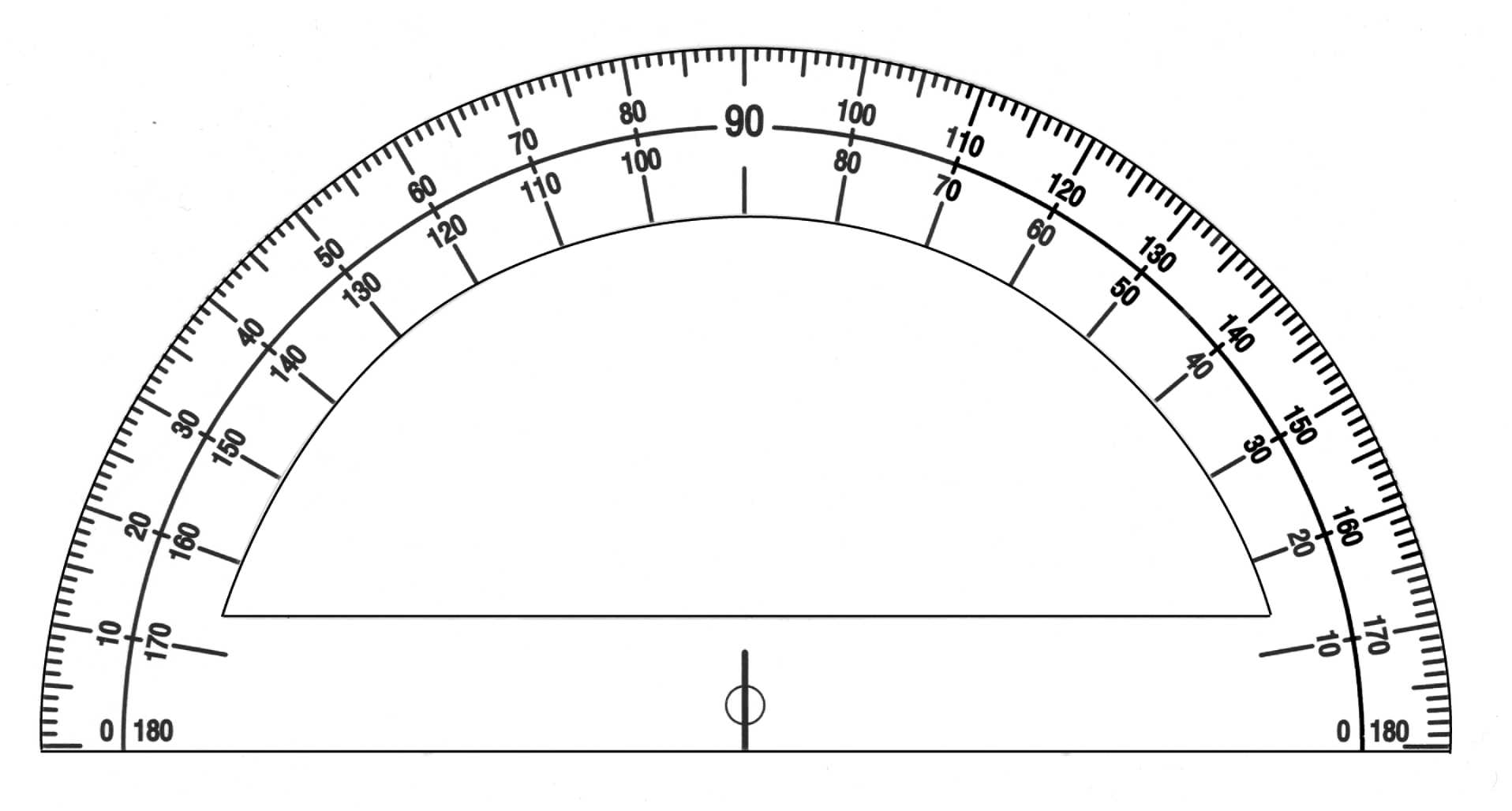 This Protractor Shows A Full Rotation Of 360 Degrees