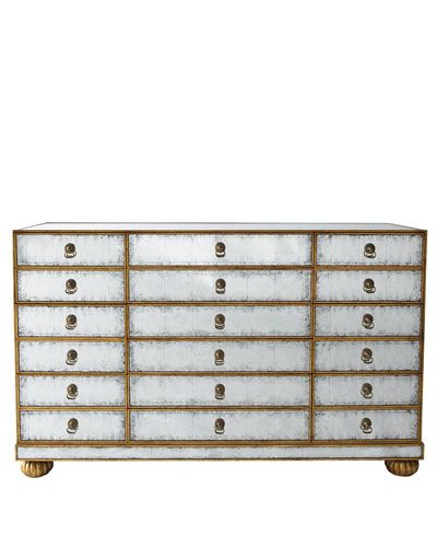 H3Y8N John-Richard Collection Orleans Mirrored Chest