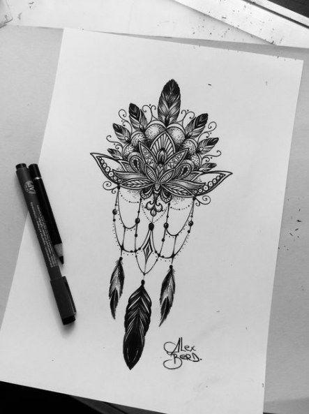 Photo of 17 idées pour des idées de tatouage dessins croquis des capteurs de rêves