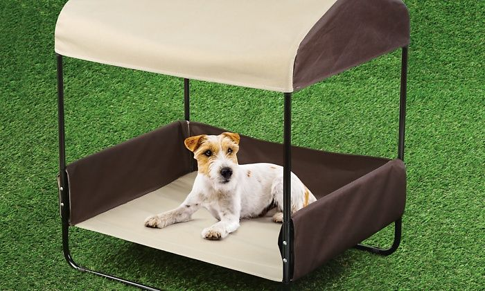Portable Pet Bed With Canopy For Shade Outdoor Dog Bed Dog Bed Shade For Dogs