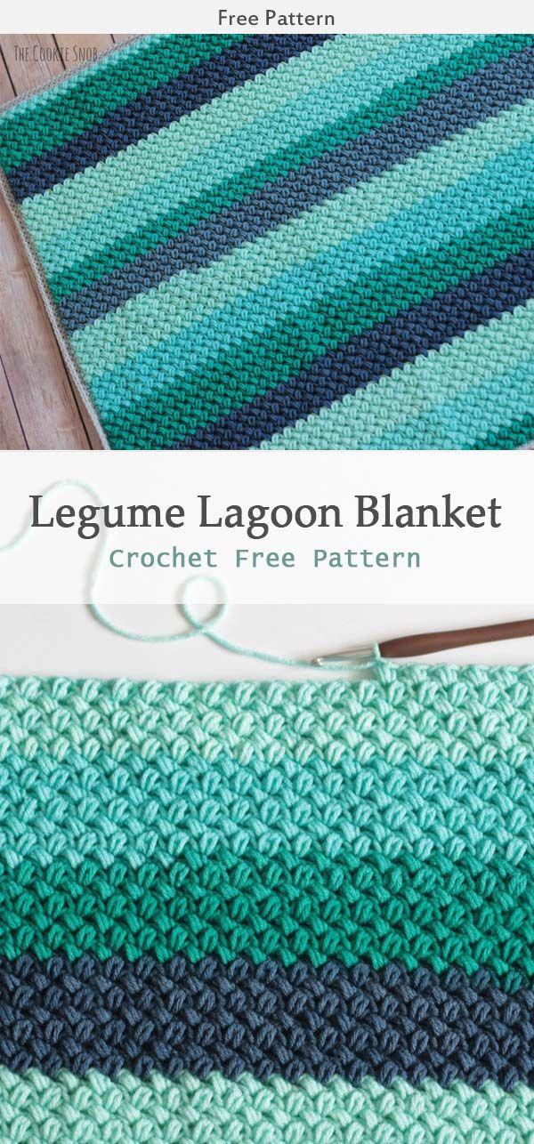 Legume Lagoon Blanket Crochet Free Patte Crochetblanket - Crochet Blanket