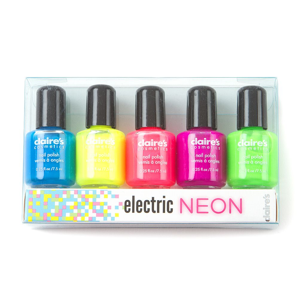 Electric Neon Mini Polish Set Claire S Fashion Accessories