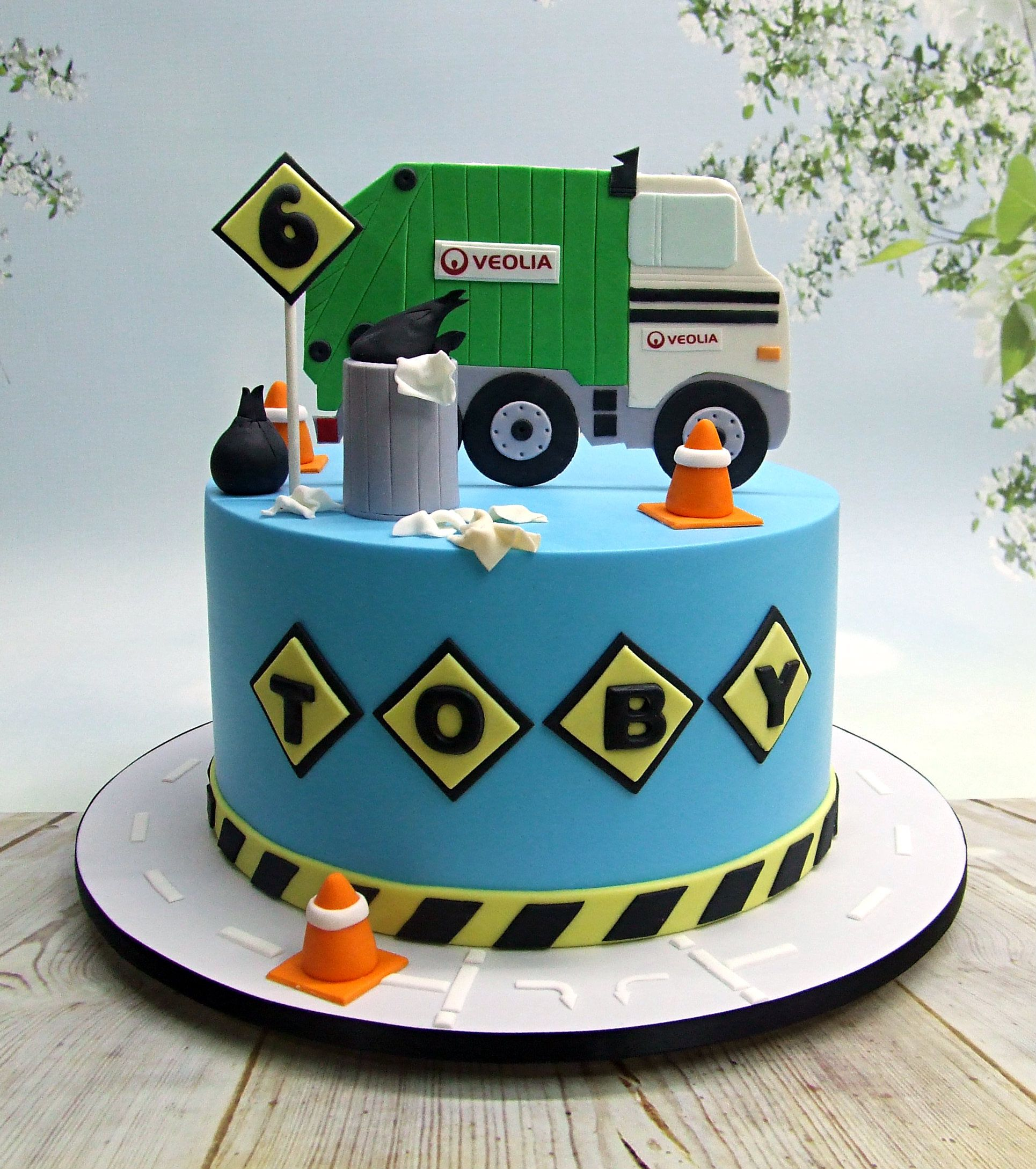 Astonishing Garbage Truck Cake With Images Truck Birthday Cakes Truck Personalised Birthday Cards Veneteletsinfo