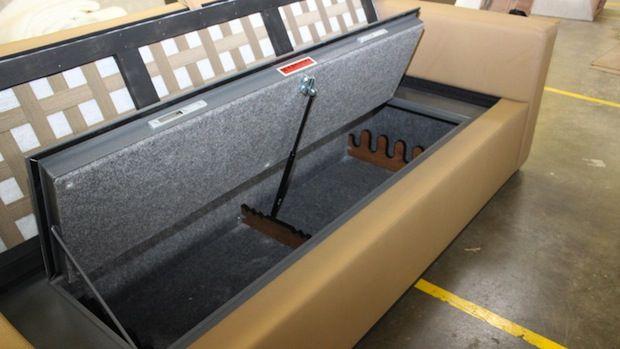 couchbunker gun safe sofa just for guys pinterest. Black Bedroom Furniture Sets. Home Design Ideas