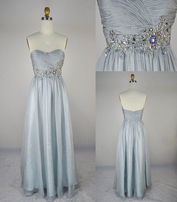 Ice blue bridesmaid dress Cinderella wedding | Silver ...