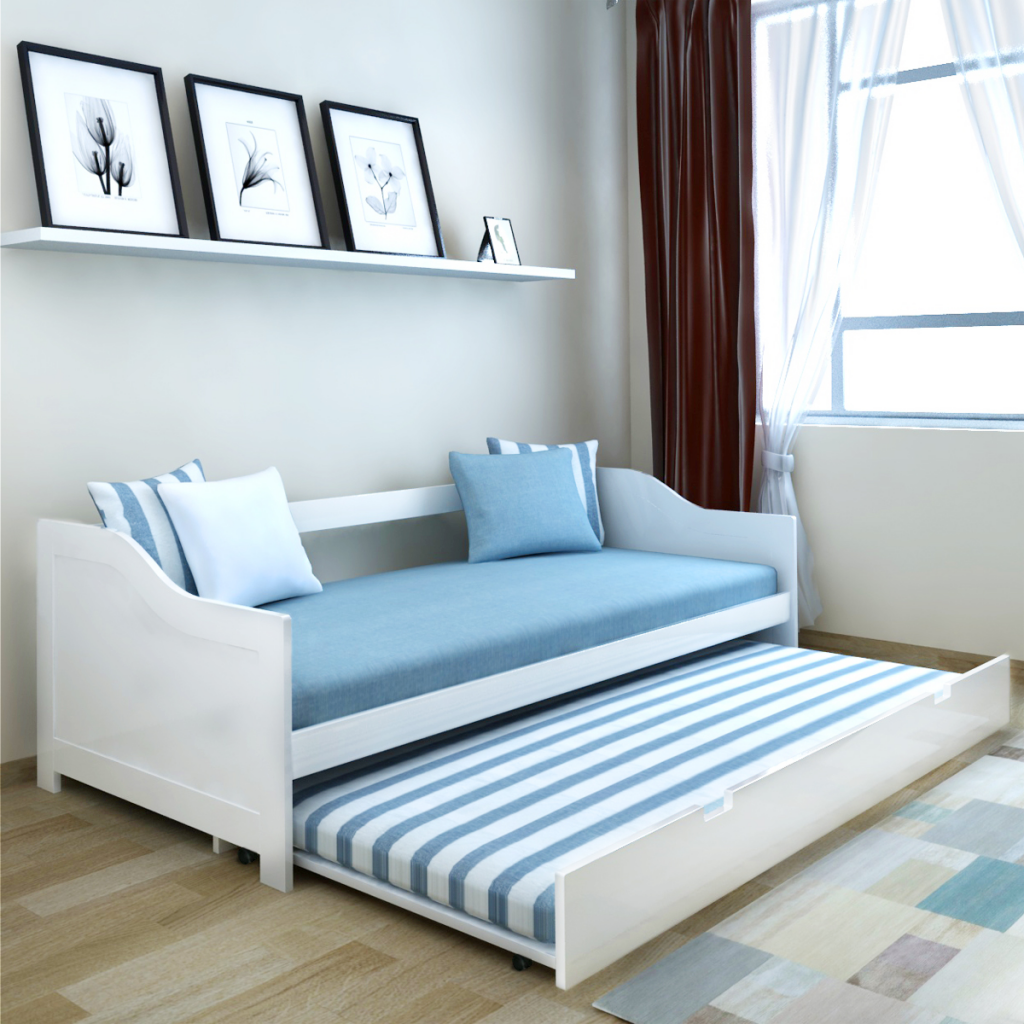 Best Wooden Pull Out Bed Frame Single Day Bed Sturdy Two Beds 400 x 300
