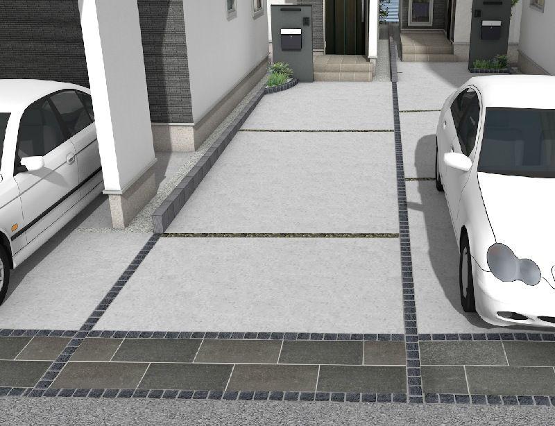 外構 車庫 目地の役割とおしゃれな使い方 注文住宅の外構徹底解説 外構 コンクリート 目地 コンクリートの庭