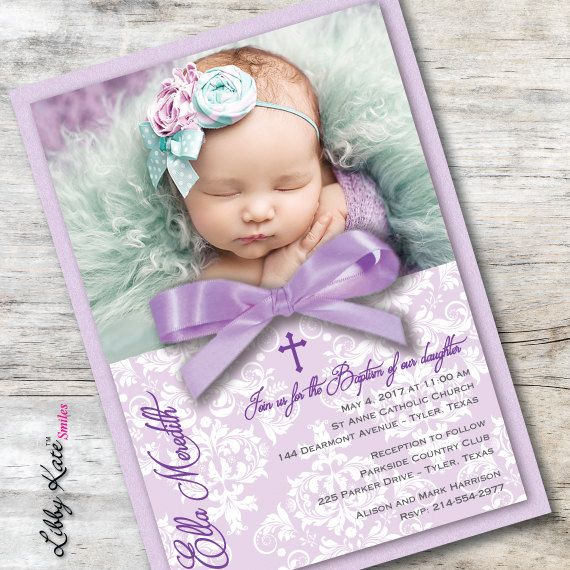 photo baptism invitation girl photo christening by libbykatesmiles