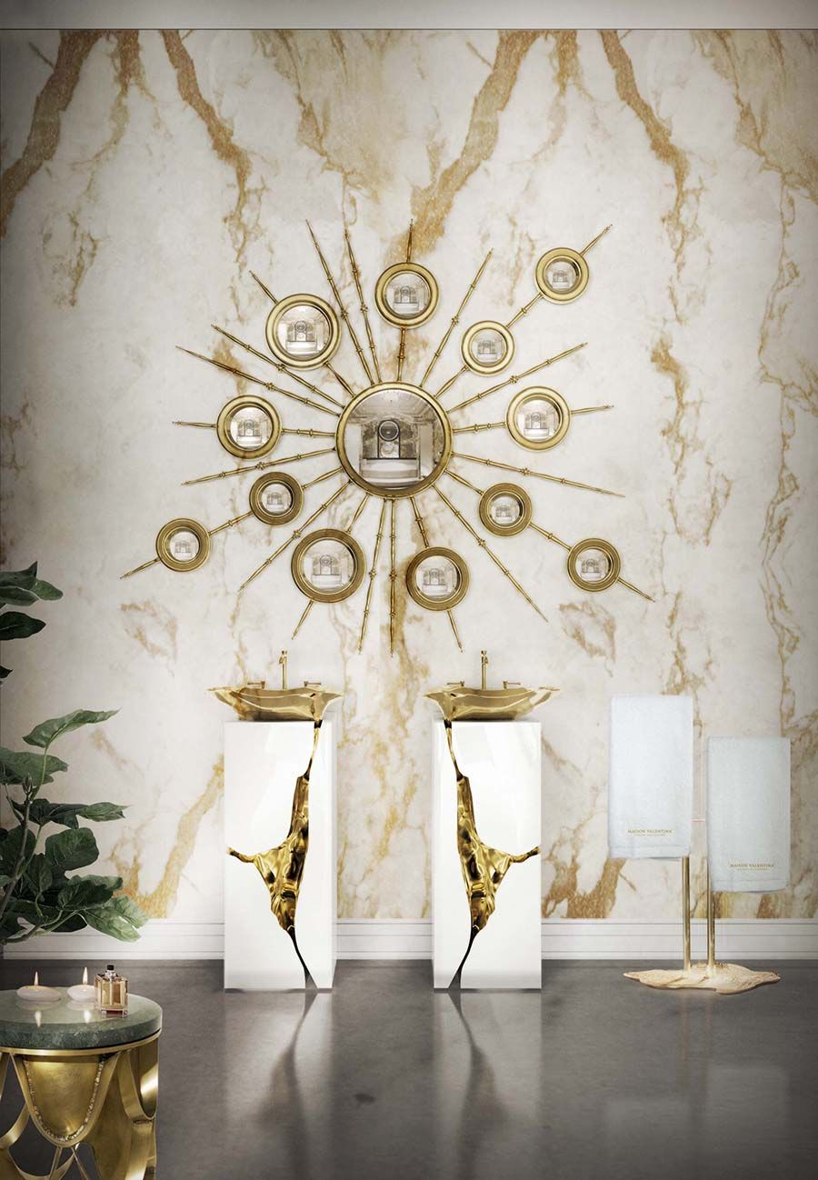 The apollo mirror inspired by the greek god of sun and light appears