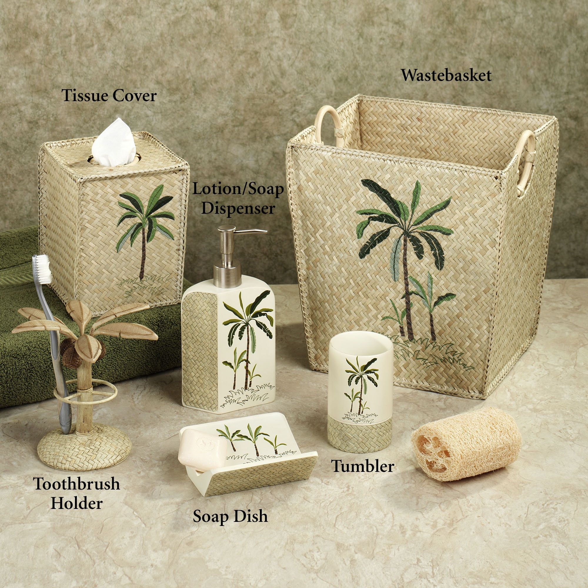 Pin by Merle Heiney on palm tree bathroom accessories  Tropical