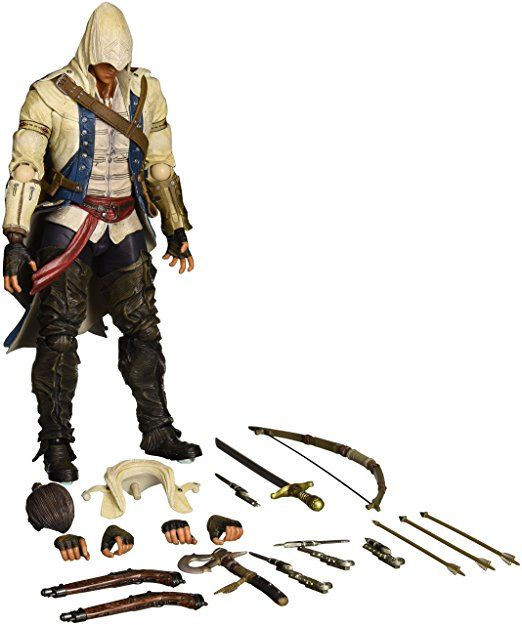 Square Enix Play Arts Kai Connor Kenway Assassin S Creed Action Figure Assassins Creed Assassin S Creed Assassin