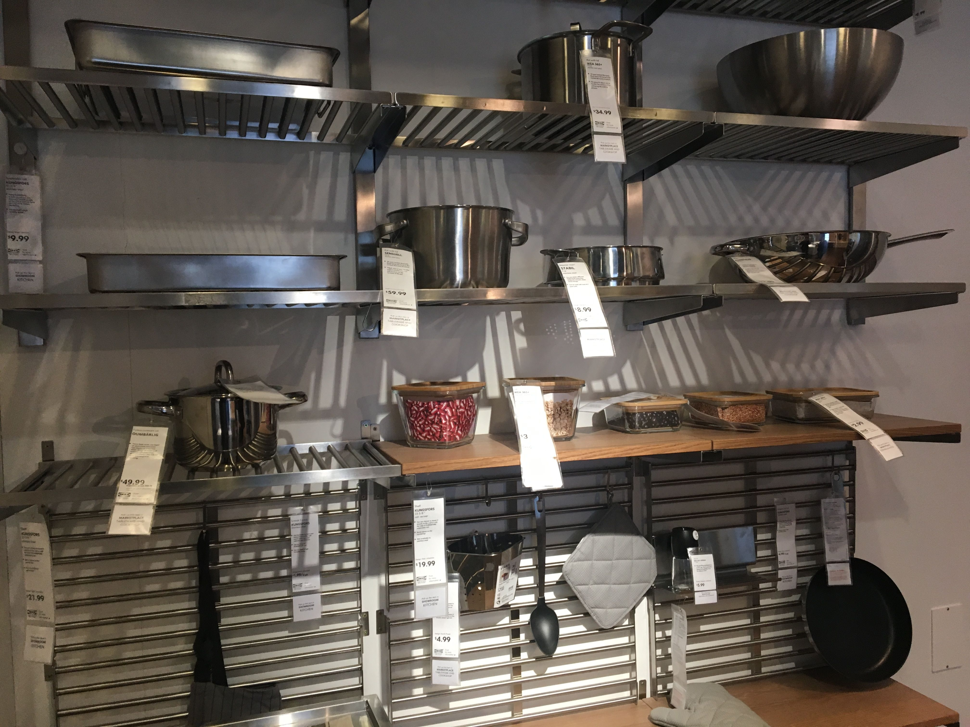 Kungsfors Shelf Stainless Steel Ikea Kitchen Fittings Shelves Ikea Shelves