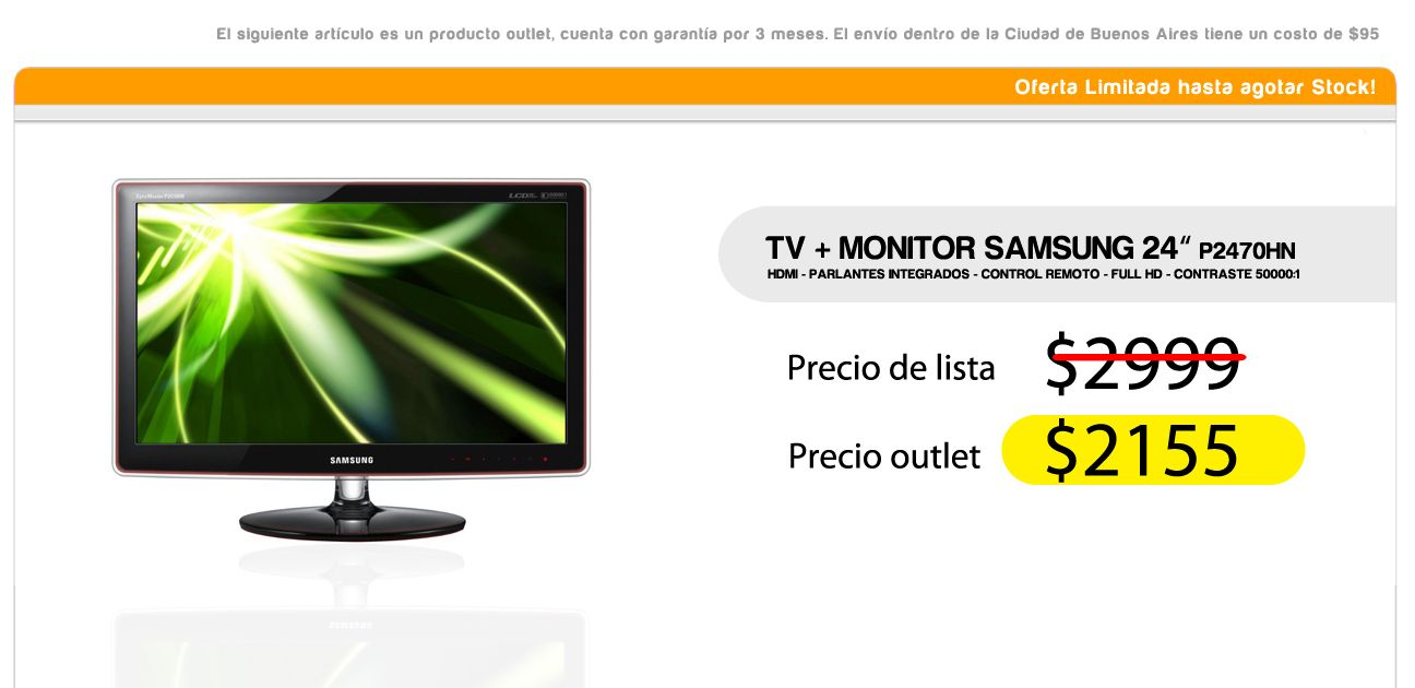 TV + Monitor Samsung 24 pulgadas