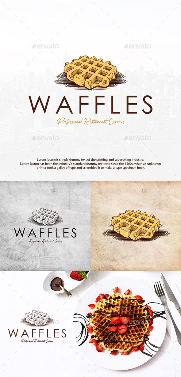 Sweet Waffle Logo Template AD Waffle, AFFILIATE, Sweet