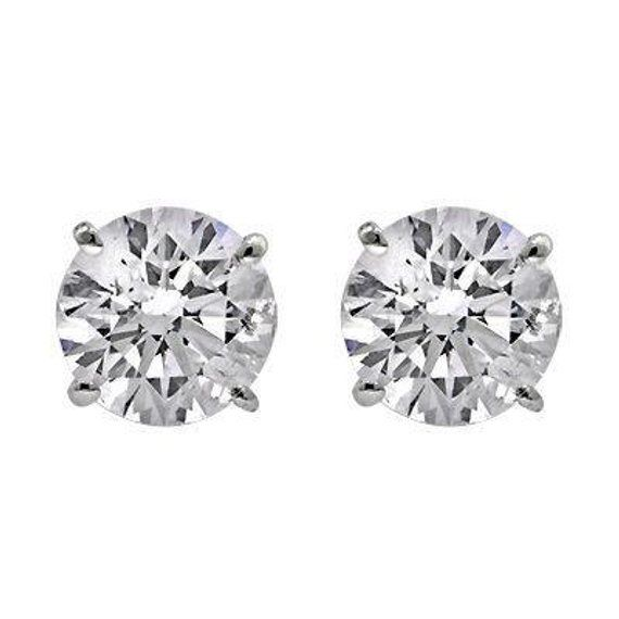 1 00 G Vs1 Carats Round Brilliant Cut Diamond Stud Earrings Studs Natural Diamonds Earring