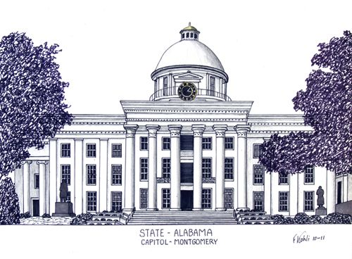 Alabama State Capitol in Montgomery More info at    frederic - copy capitol blueprint springfield illinois