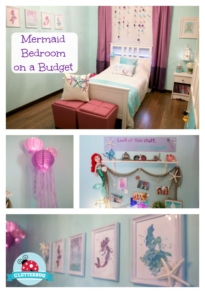 Mermaid Bedroom On A Budget   DIY Mermaid Room Decor  How To Video